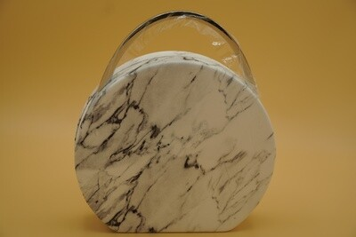 Marble printed clutch