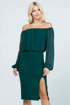 Off Shoulder Surplus Dress