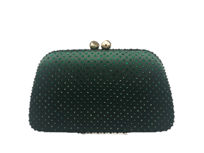 Emerald Rhinestone Clutch