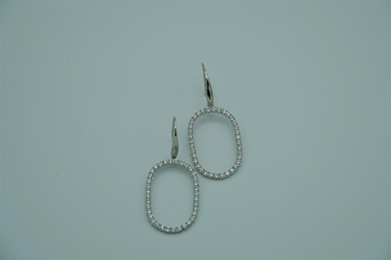 Oval Drop Stdd Earrings