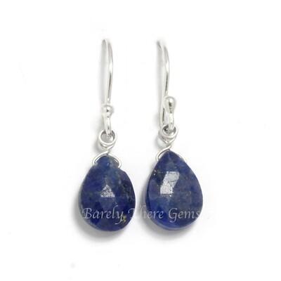 Lapis Lazuli, Sterling Silver, Drop Earrings