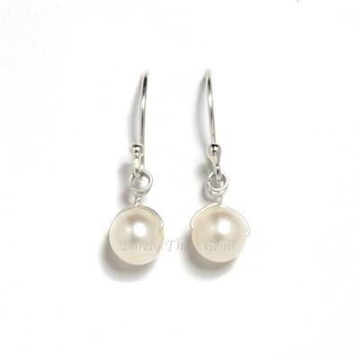 Pearl, Sterling Silver, Drop Earrings