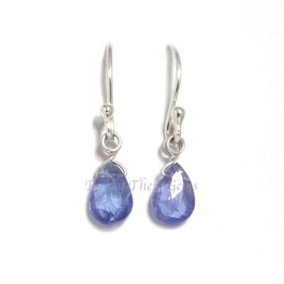 Tanzanite, Sterling Silver, Drop Earrings