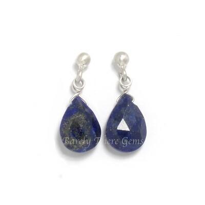 Lapis Lazuli, Sterling Silver, Stud Earrings