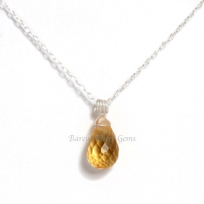 Citrine, Sterling Silver, Necklace