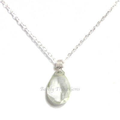 Green Amethyst, Sterling Silver, Necklace