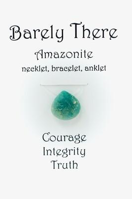 Amazonite, Invisible Necklet, Bracelet, Anklet