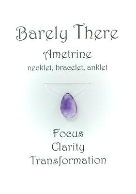 Ametrine - Invisible Necklet, Bracelet, Anklet