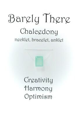 Chalcedony - Invisible Necklet, Bracelet, Anklet - Emerald Facet