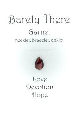 Garnet - Invisible Necklet, Bracelet, Anklet