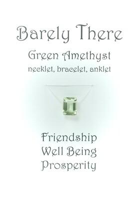 Green Amethyst - Invisible Necklet, Bracelet, Anklet - Emerald Facet