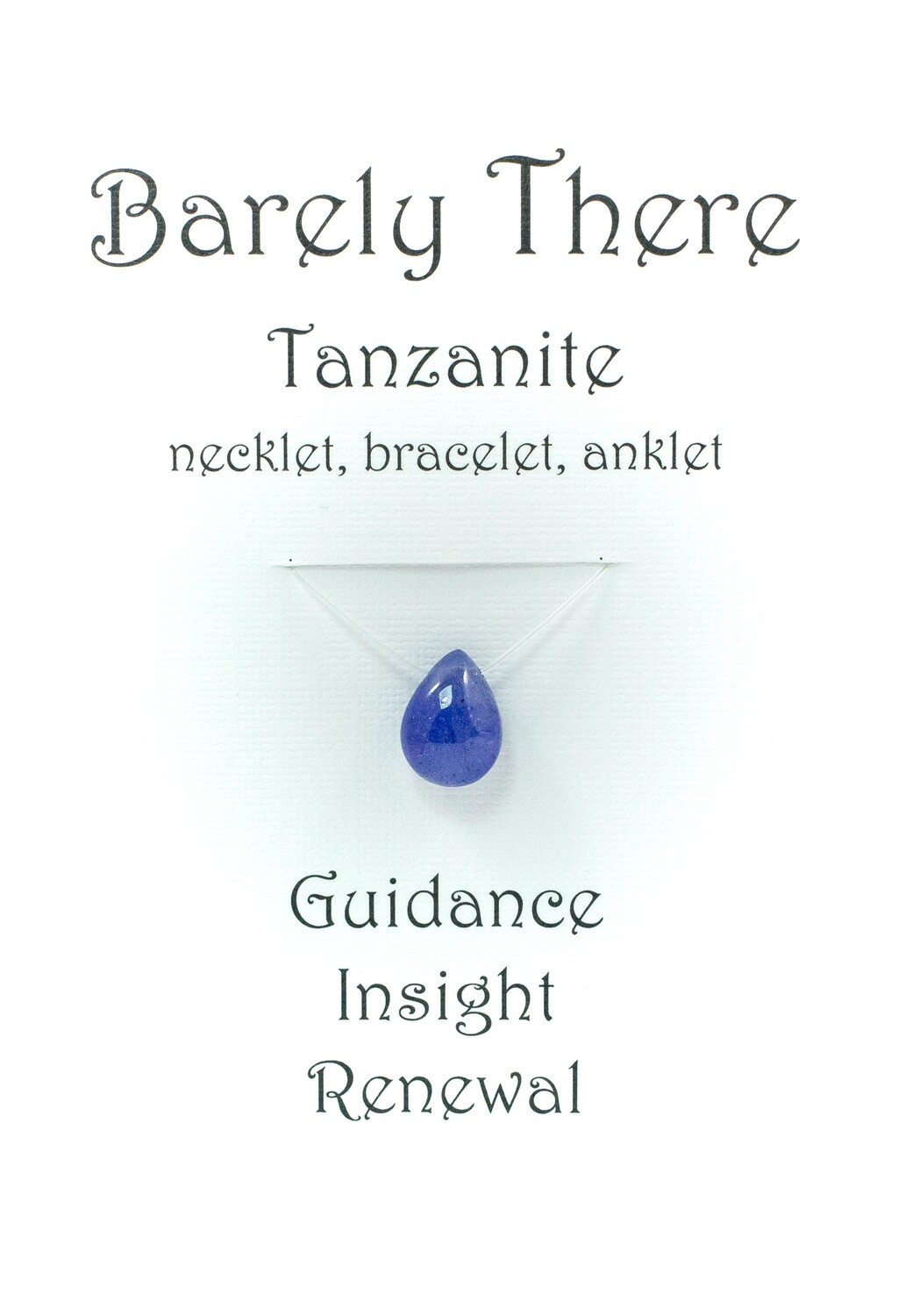Tanzanite - Invisible Necklet, Bracelet, Anklet