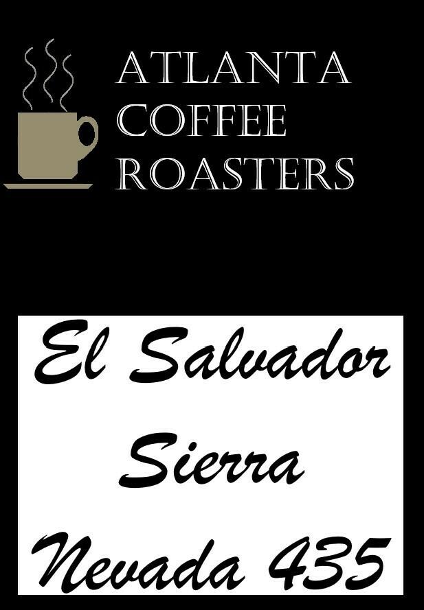 El Salvador, Sierra Nevada 435 Full City Roast