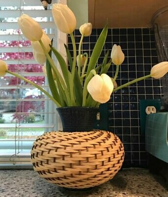 Ceramic Basketry Vase