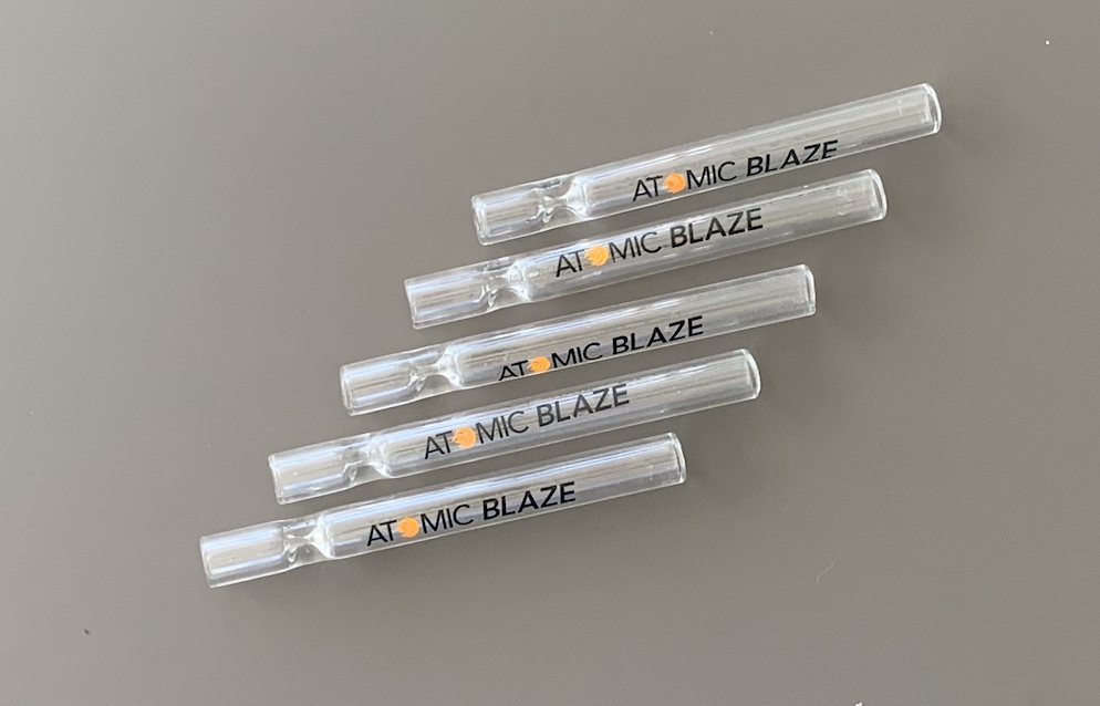 Atomic Blaze Glass Chillums - 10 Pack