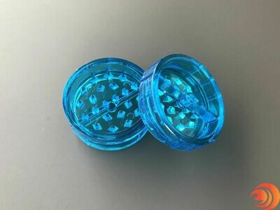 Small Acrylic Herb Grinder - Blue Plastic Grinder