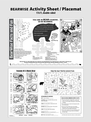 BearWise Activity Sheet / Placemat (PDF)