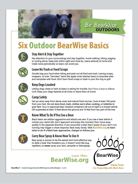 Six Outdoor BearWise Basics (PDF)