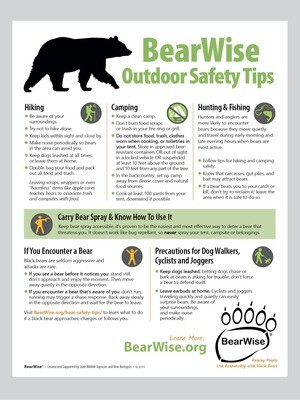 BearWise Outdoor Safety Tips (PDF)
