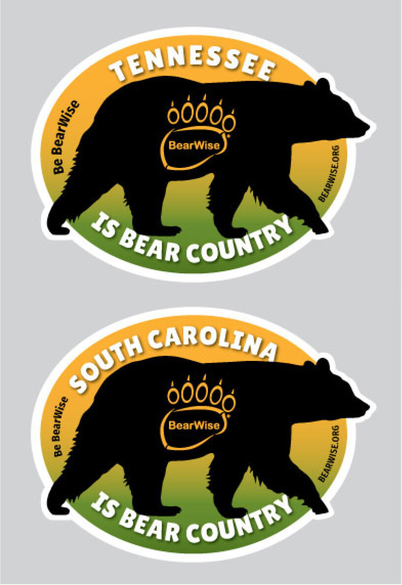 Bear Country State Stickers
