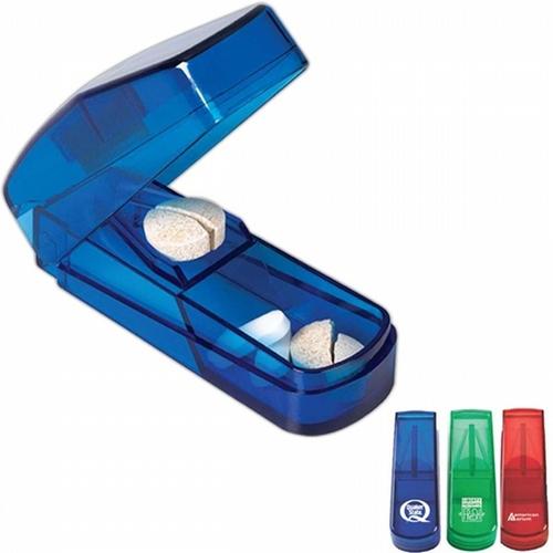 Rectangular shape translucent Pill Cutter