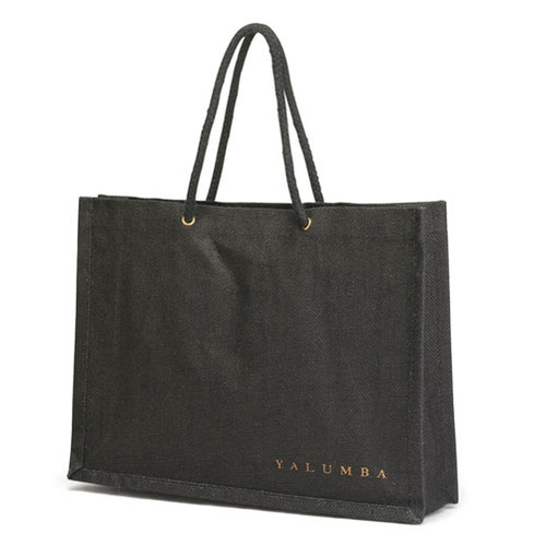 Jute Shopping Bag With Grommets and Rope Handle. (Price for 50 pcs)