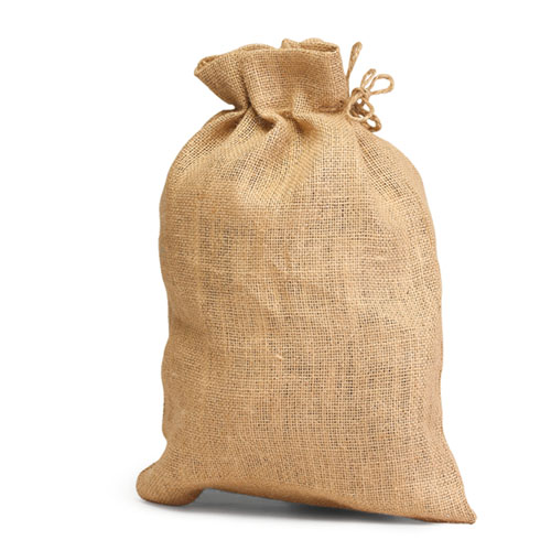 Unlaminated Jute Bag with Drawstring. (Price for 100 pcs)