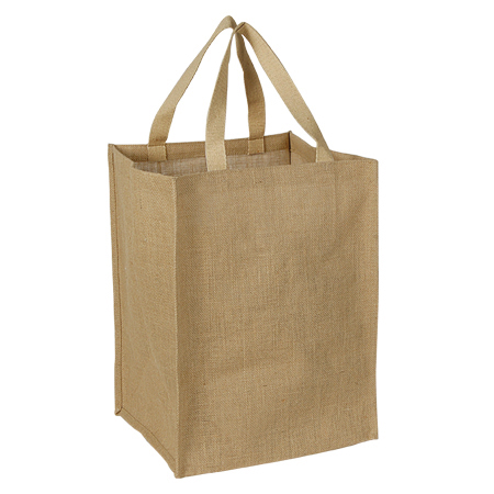 Jute Grocery tote with Cotton Web Handle. (Price for 50 pcs)