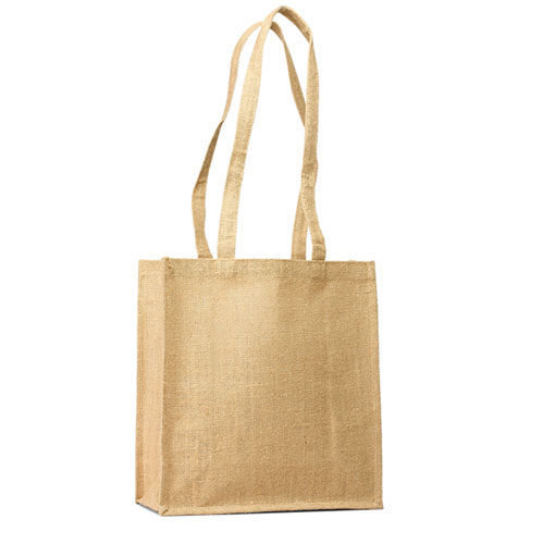 Jute Grocery/ Shopping tote with long handles (Price for 50 pcs)