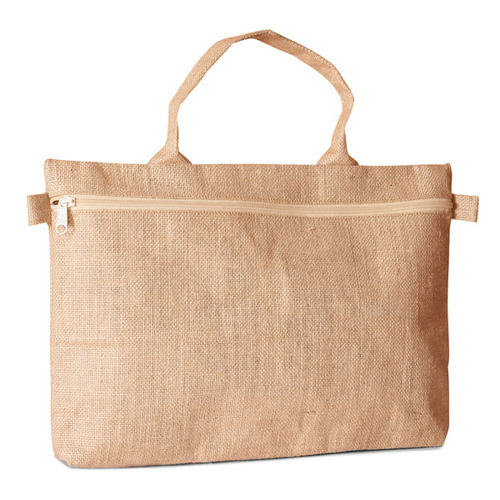 Jute conference bag with zippered closure (Price for 50 pcs)
