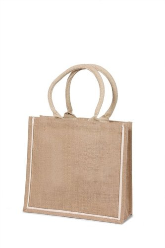 Jute shopping bag with webbed handles (Price for 50 pcs)