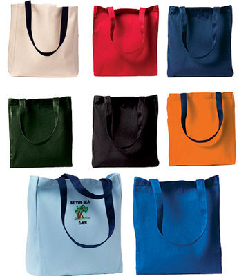 Harriton - Canvas 100% cotton tote bag. 8 oz (6 pcs min.)