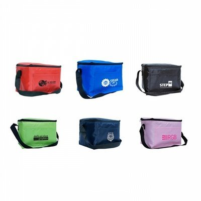 Lunch cooler bag 210 Denier polyester with webbed carry handle - 25 Pcs Total