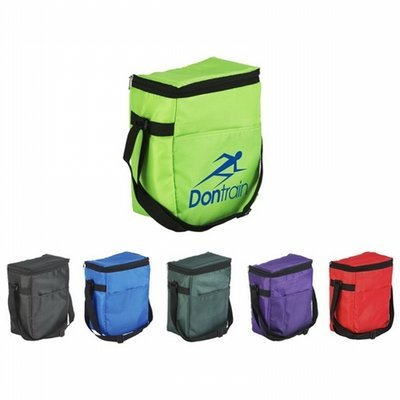 Insulated 12-pack cooler bag is made of 210 Denier polyester - 50 pcs Total