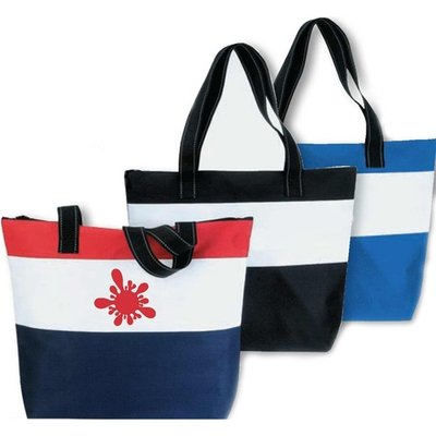 Beach Polyester Zipper Bag - 12 Bags Minimum per order