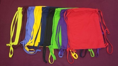 14x17 Blended Knitted Tote bag , 3.7 lbs per dz, Drawstring Bags (6 pcs min.)