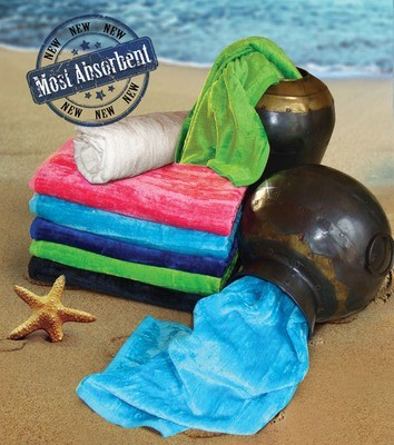 Sale Special ! 32x64 Silky Velour Beach Towels By Paris Collection 16.0 Lbs/ Dz.
