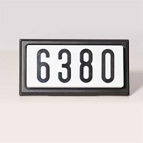 TBK4 - Complete Decorative Address Sign - 4