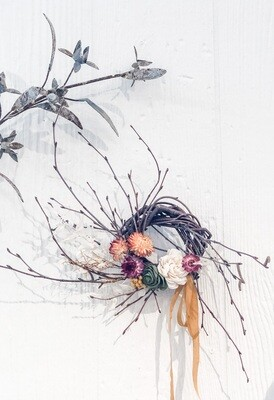 Mini Birch Dried Flower Wreath - 101