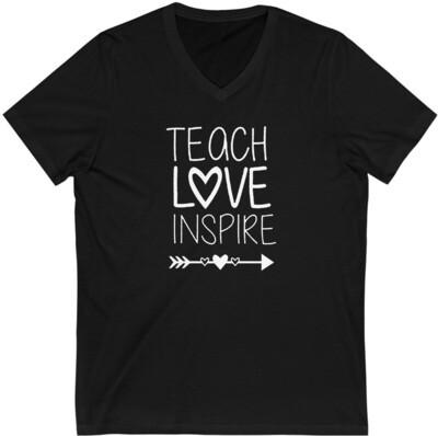 Teach Love Inspire - Adult VNeck
