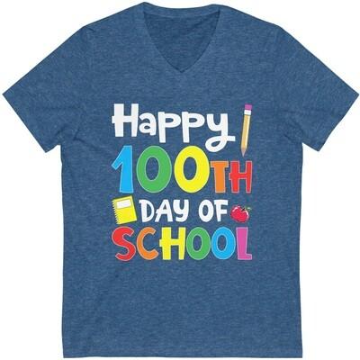 100 Day of School - Adult VNeck