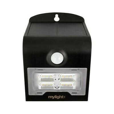 Wall light 02 Svart LED Solar sensor