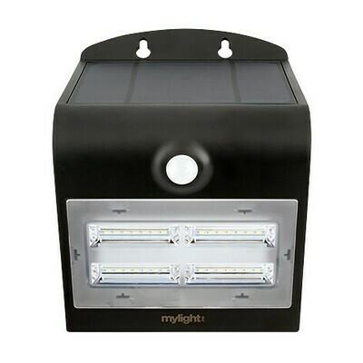 Wall light 03 Svart LED Solar sensor