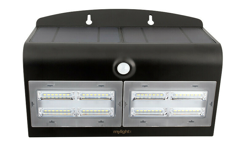 Wall light 04 Svart LED Solar sensor