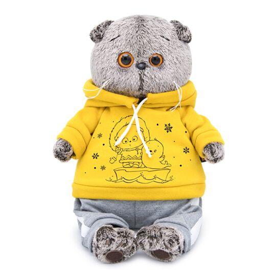 BUDI BASA Мягкая игрушка Басик в спортивном костюме - 22 см в положении сидя