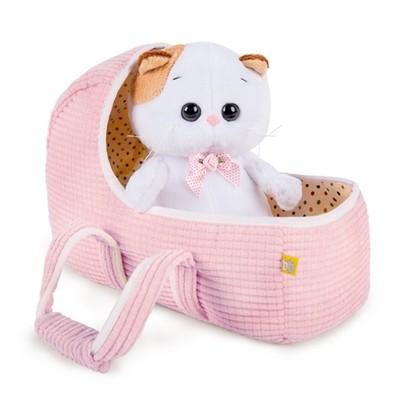 BUDI BASA Мягкая игрушка Кошечка Ли-Ли baby Baby в люльке - 20 см в положении сидя