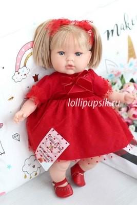 Кукла Тита (Tita Natale) в красном платье, 45 см