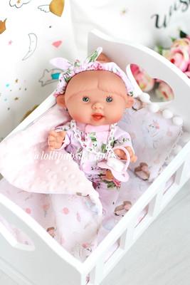 Кроватка для кукол (цвет белый)