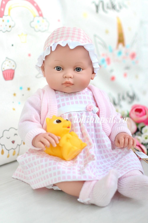 Lamagik S.L. (Magic Baby) Кукла-младенец Алисия, 45 см, в нарядном платье и кардигане