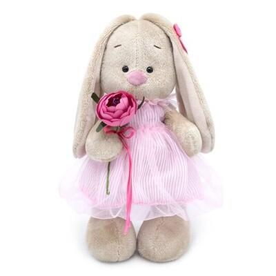 BUDI BASA Мягкая игрушка Зайка Ми в платье-баллон - 32 см